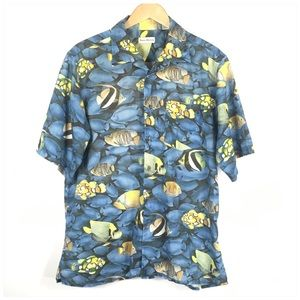 Vintage Barry Bricken Tropical Fish Resort Shirt